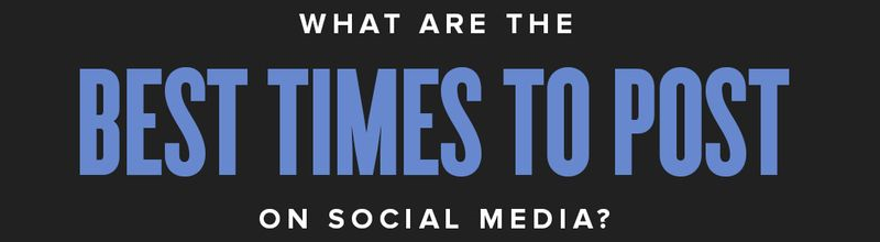 What are the Best Times to Post on Social Media? Infographic featured image
