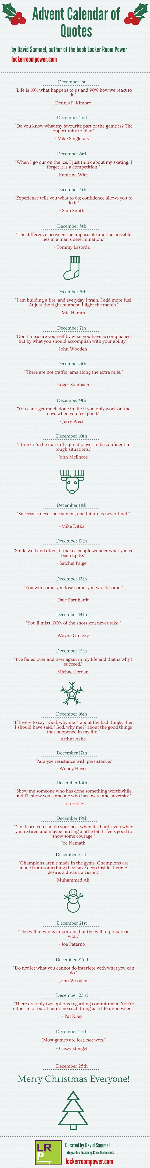 Advent Calendar of Quotes infographic
