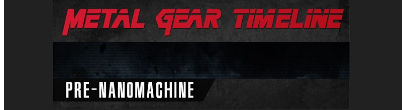 Metal Gear Timeline featured image