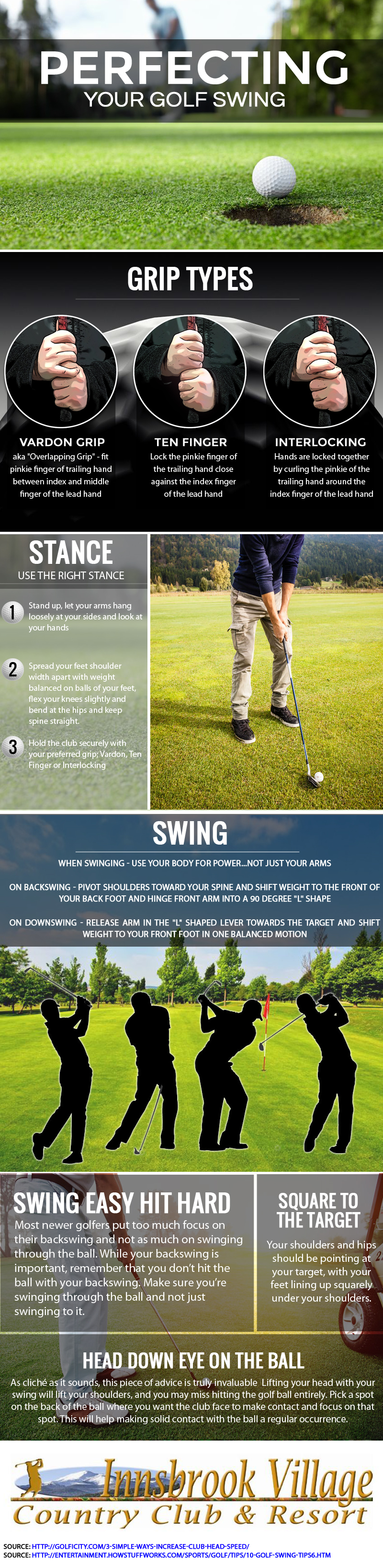 Perfecting Your Golf Swing infographic