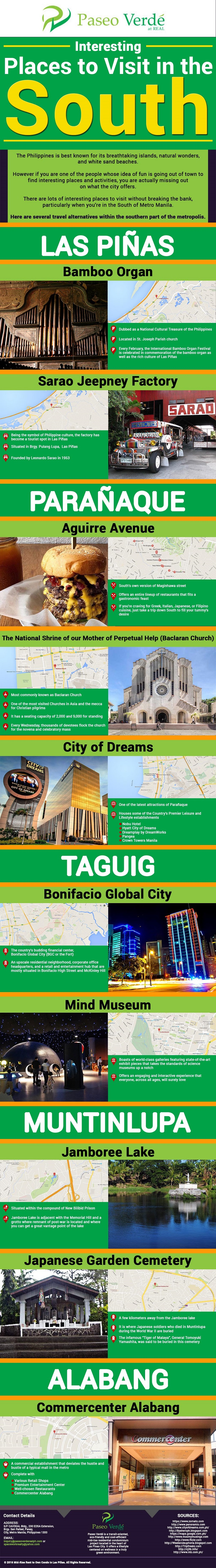 Interesting Places To Visit in the South Philippines infographic