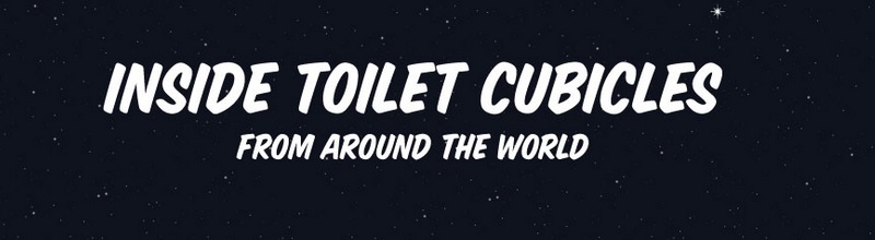 what you might find in toilet cubicles around the world title image