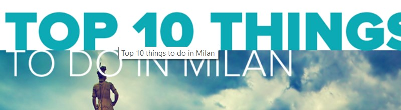 places to visit in Milan title image