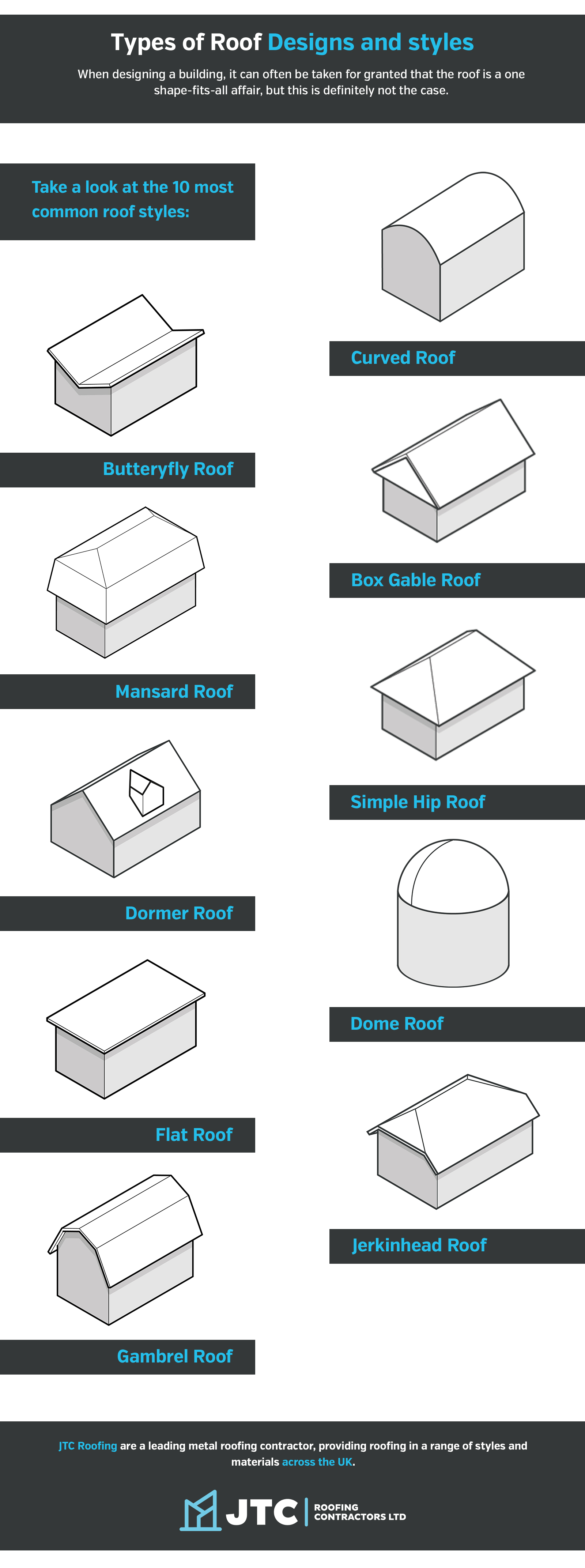 roof designs infographic