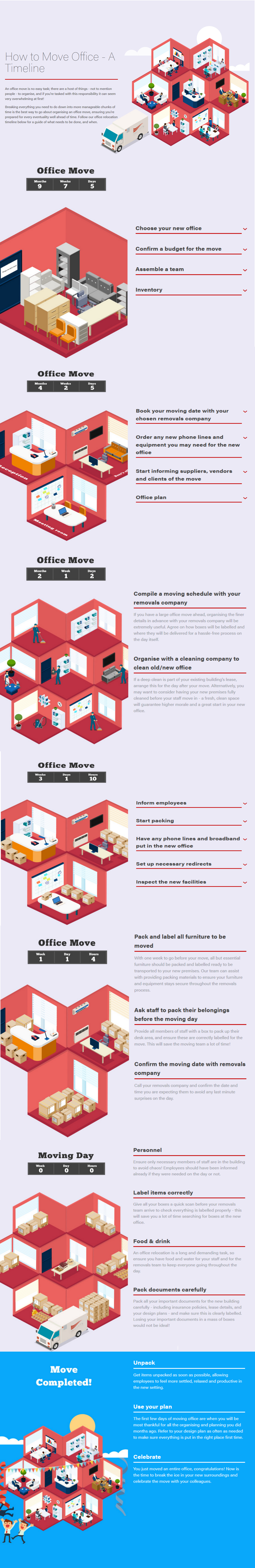 how to move office infographic