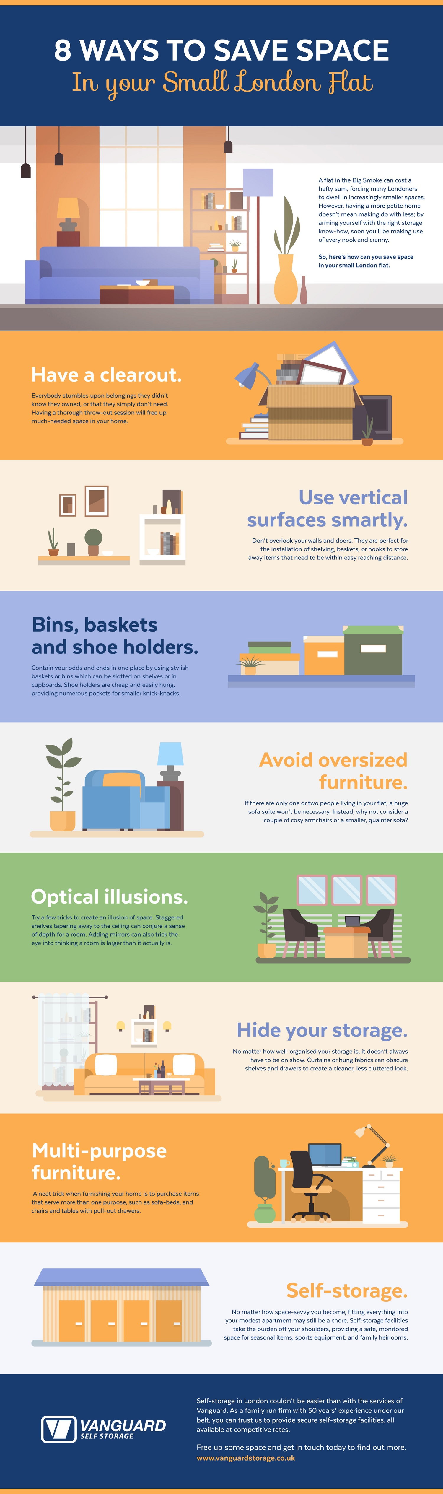 save space in your London flat infographic