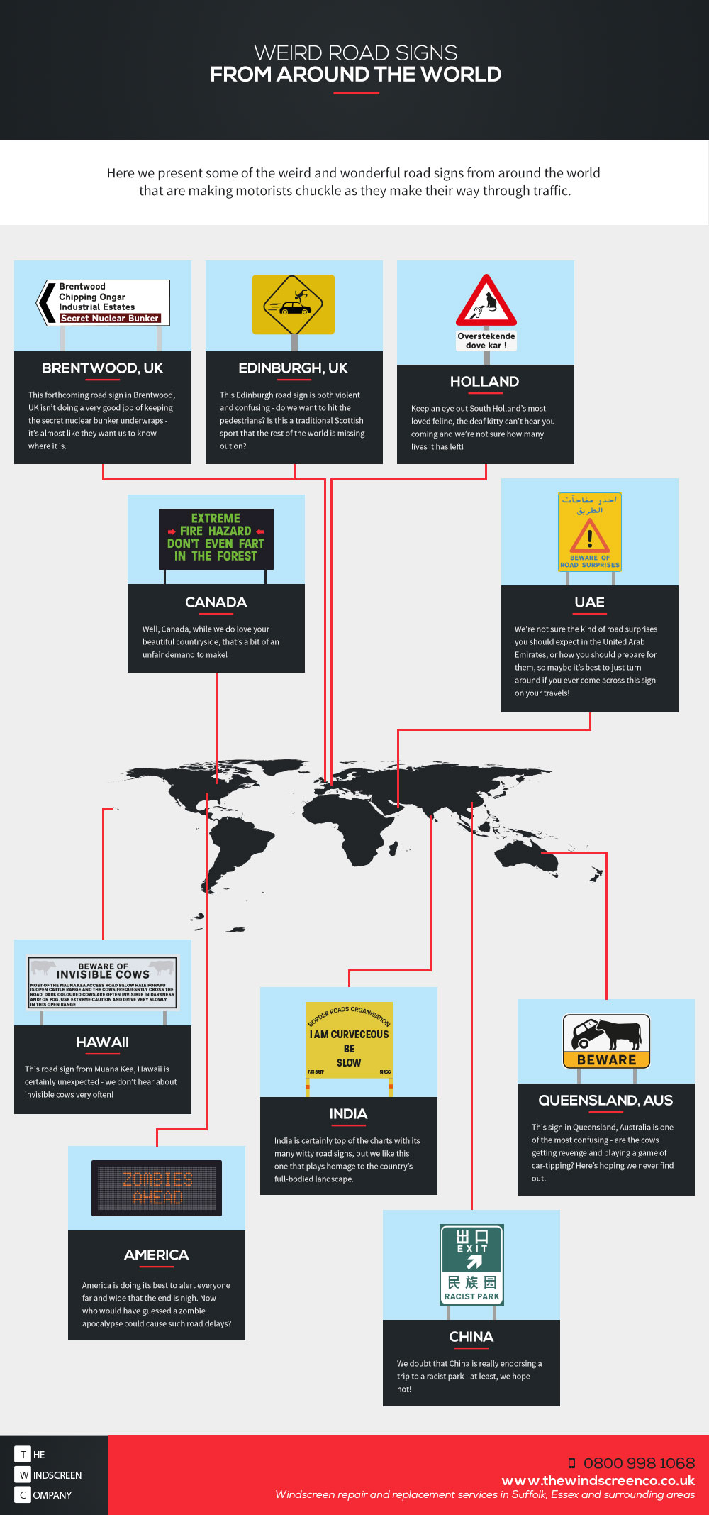 bizarre road signs infographic