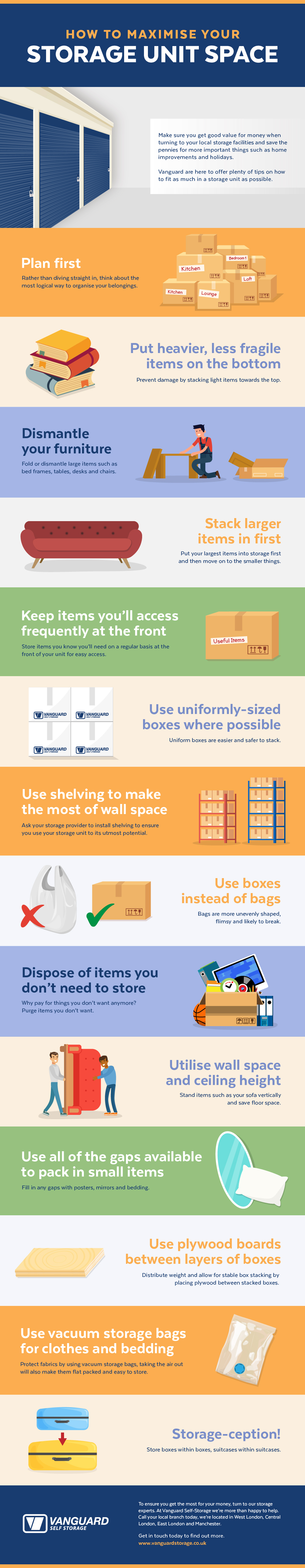 How To Maximise Your Storage Unit Space infographic