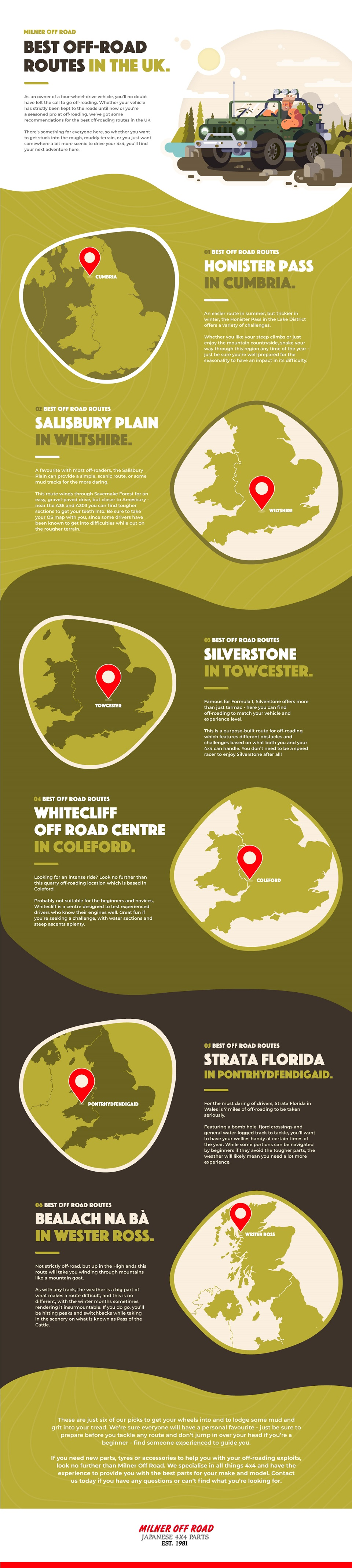 best off road routes in the uk infographic